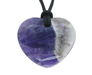 Lucky Amethyst Pisces Birthstone Heart Pendant