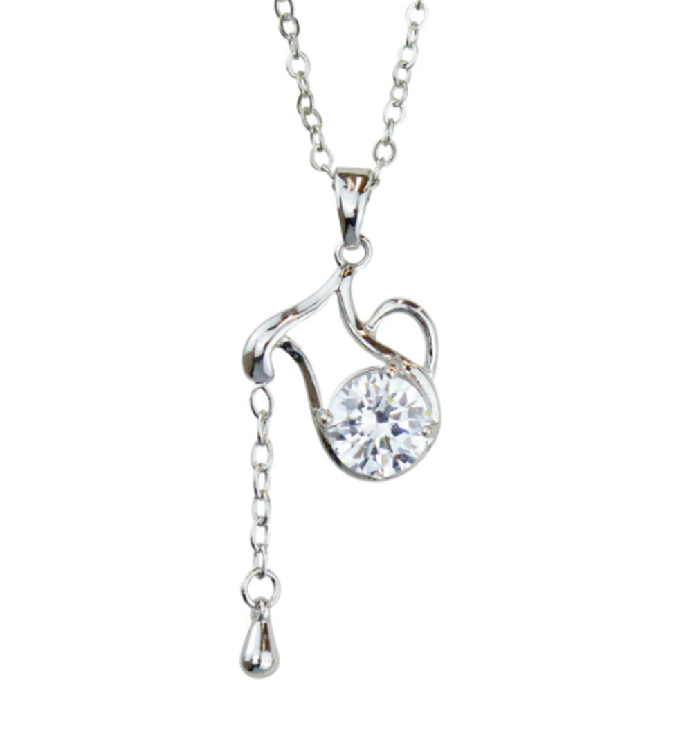 Aquarius Horoscope Zodiac Crystal Pendant Necklace