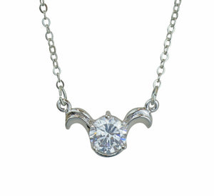 Aries Horoscope Zodiac Crystal Pendant Necklace