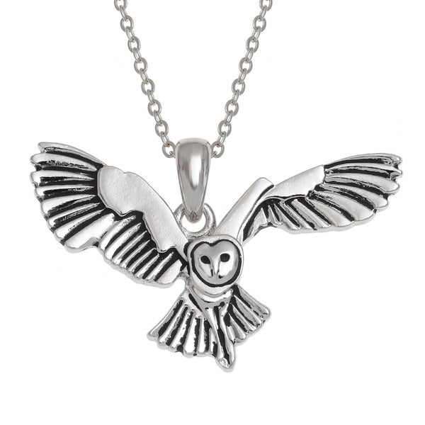 Barn Owl Pendant Necklace
