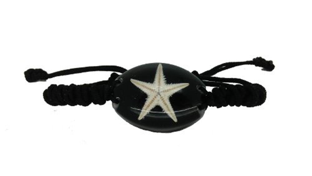 Lucky Real Starfish Black Healing Bracelet