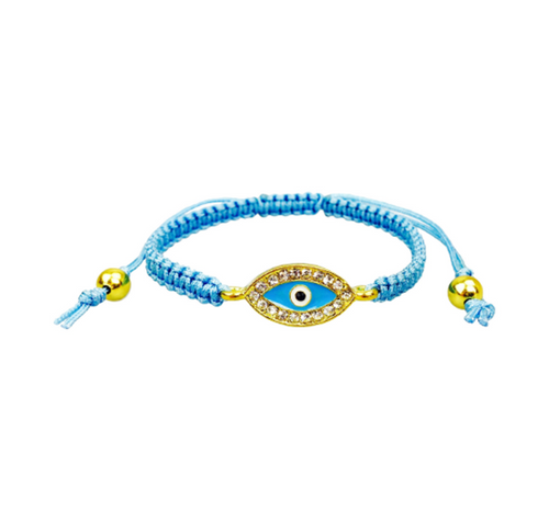 Blue Evil Eye Crystal Bracelet