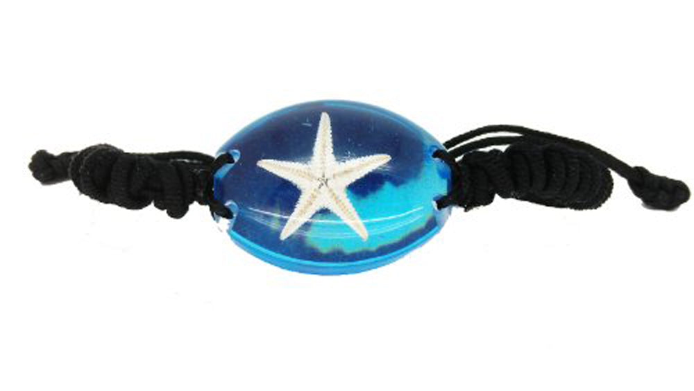 Lucky Real Starfish Blue Healing Bracelet