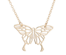 Load image into Gallery viewer, Rose Gold, Gold and Silver Plated Lucky Butterfly Origami Pendant Necklace