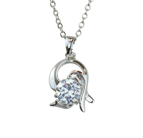 Capricorn Horoscope Zodiac Crystal Pendant Necklace