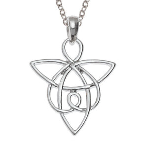 Celtic Angel Knot Pendant Necklace