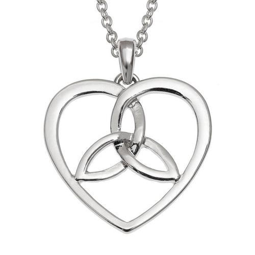Celtic Heart Filigree Knot Pendant Necklace
