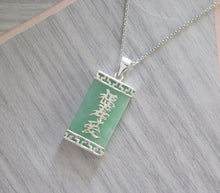 Load image into Gallery viewer, Lucky Genuine Grade A Jade 925 Sterling Silver Good Luck Pendant