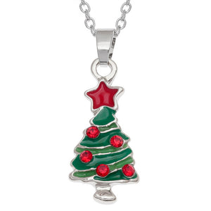 Christmas Tree Necklace Pendant