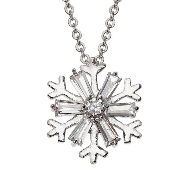 Christmas Snowflake Crystal Necklace Pendant
