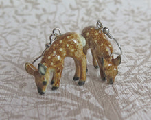 Load image into Gallery viewer, Baby Deer Porcelain Earrings