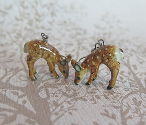 Baby Deer Porcelain Earrings
