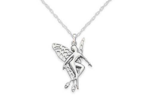 Fairy Solid 925 Sterling Silver Pendant