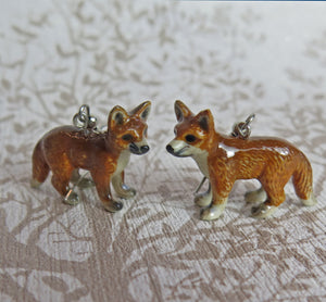 Baby Fox Porcelain Earrings
