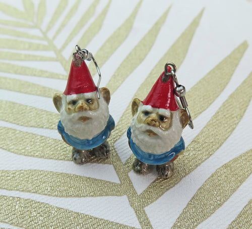 Lucky Gnome Porcelain Earrings