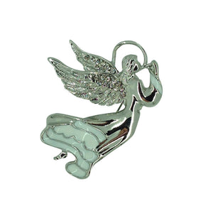 Guardian Angel Crystal Brooch