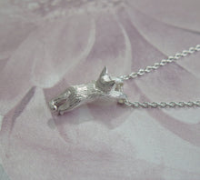 Load image into Gallery viewer, Sterling Silver Playful Kitten Cat Pendant Necklace
