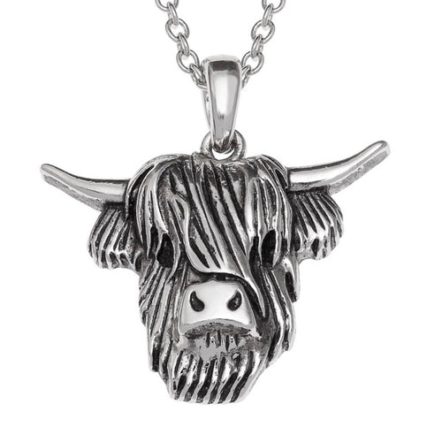 Scottish Highland Cow Pendant Necklace