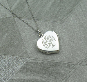 Celtic Tree of Life Solid 925 Sterling Silver Locket Pendant Necklace