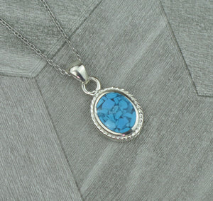 Lucky Vintage Scorpio Sterling Silver Birthstone Pendant Necklace in Turquoise Howlite