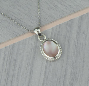 Lucky Vintage Taurus Sterling Silver Birthstone Pendant Necklace in Rose Quartz Colour