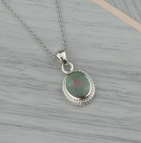 Lucky Vintage Leo Sterling Silver Birthstone Pendant Necklace in Moonstone Colour