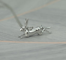 Load image into Gallery viewer, Sterling Silver Lucky Hare Pendant Necklace