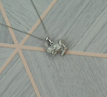 Load image into Gallery viewer, Sterling Silver Lucky Bunny Rabbit Pendant Necklace