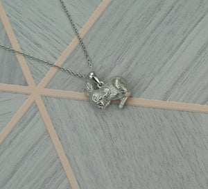Sterling Silver Lucky Bunny Rabbit Pendant Necklace