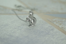 Load image into Gallery viewer, Sterling Silver Lucky Squirrel Pendant Necklace