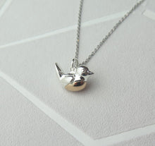 Load image into Gallery viewer, Sterling Silver Robin Pendant Necklace