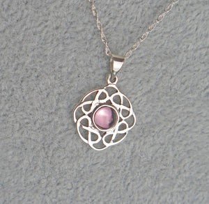 Sterling Silver Celtic Knot June Birthstone Pendant