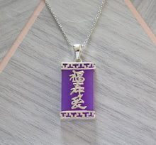 Load image into Gallery viewer, Lucky Rare Genuine Grade A Lavender Jade 925 Sterling Silver Good Luck Pendant Active