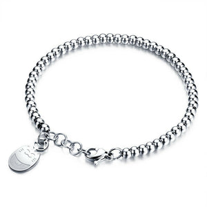 Lucky Maneki Neko Cat Silver Plated Bracelet