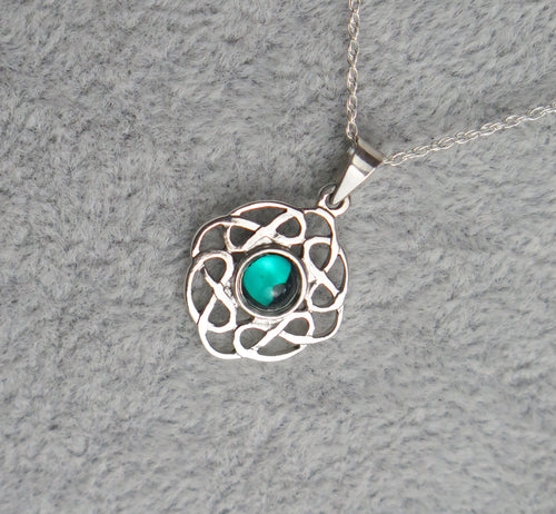 Sterling Silver Celtic Knot May Birthstone Pendant