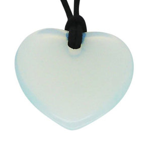 Lucky Opalite Cancer Birthstone Heart Pendant