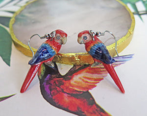 Parrot Porcelain Earrings