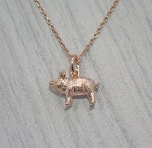 Load image into Gallery viewer, Lucky 925 Sterling Silver 24k Rose Gold Plated Pig Pendant Necklace