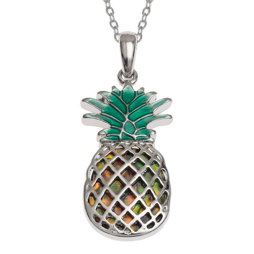 Lucky Paua Shell Pineapple Pendant Necklace