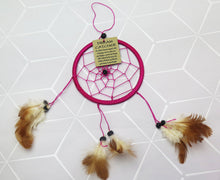 Load image into Gallery viewer, Pink Native American Dream Catcher