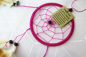 Pink Native American Dream Catcher