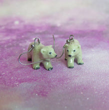 Load image into Gallery viewer, Polar Bear Cub Porcelain Earrings