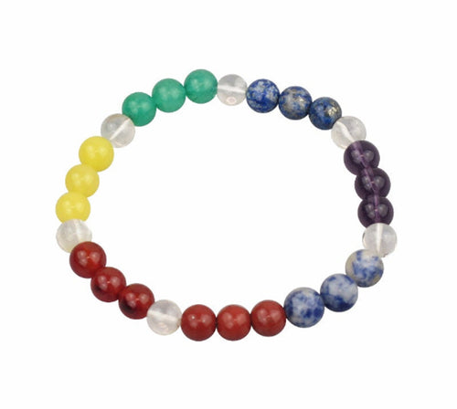 Chakra Power Bracelet With Real Gemstones