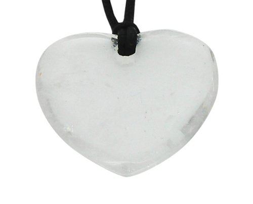 Lucky Quartz Aquarius Birthstone Heart Pendant