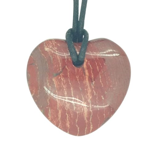 Lucky Red Jasper Libra Birthstone Heart Pendant