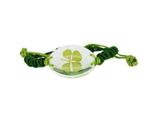 Load image into Gallery viewer, Lucky Real Four Leaf Clover Bracelet