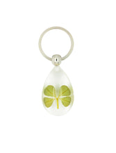 Load image into Gallery viewer, Lucky Real Four Leaf Clover Keyring Keychain