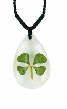 Load image into Gallery viewer, Lucky Real Four Leaf Clover Pendant Necklace