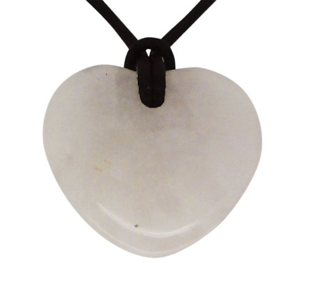 Lucky Rose Quartz Taurus Birthstone Heart Pendant