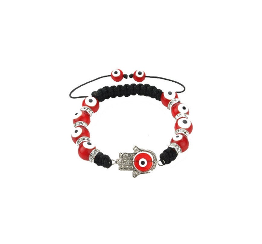 Red Evil Eye Hamsa Hand Bracelet
